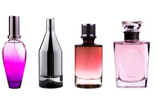 Glass coatings_Coated perfume bottles of different colours